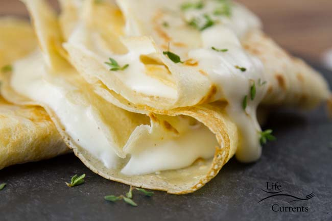Brie Butter Sauce Crepes Recipe Made in France