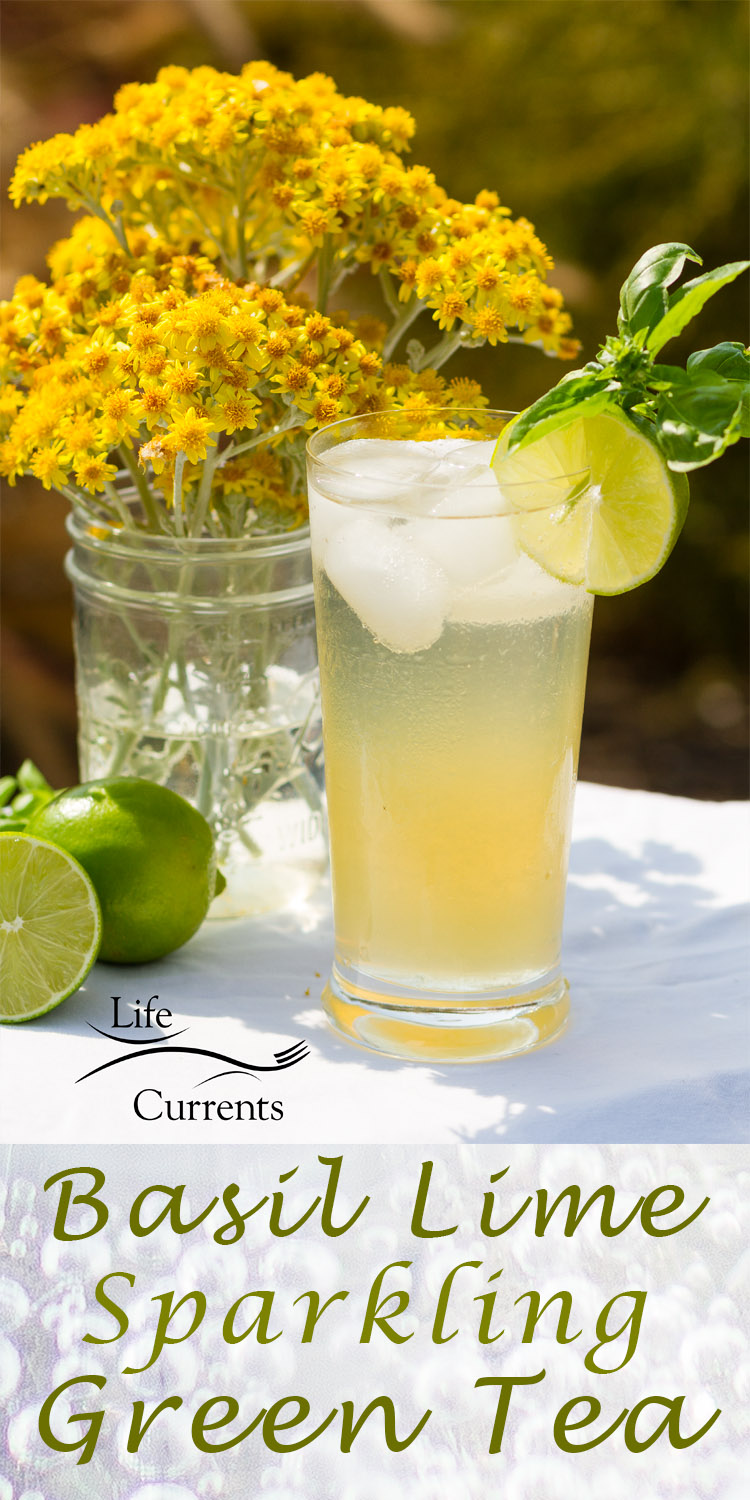 My Basil Lime Sparkling Green Tea is just the thing to refresh and make you happy on a warm summer day. Summer doesn't last very long, so make the most of every day.
