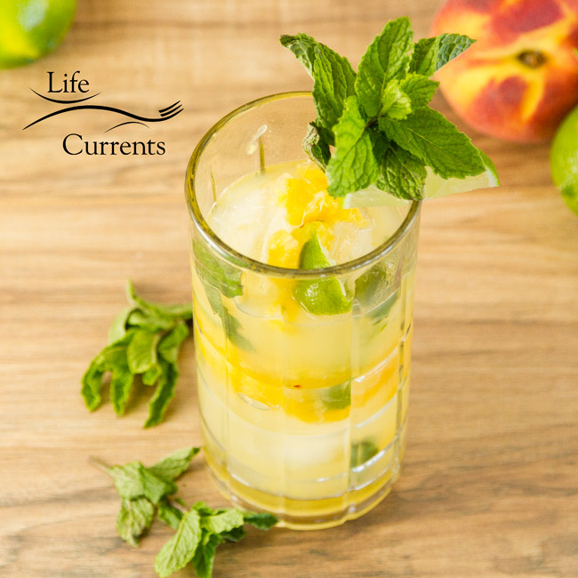 Peach Mojito - summer drink, beverage
