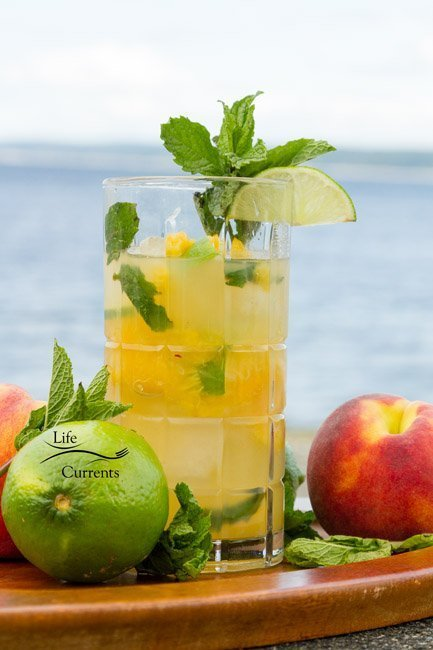 Peach Mojito There's nothing better than enjoying a refreshing summer peach mojito poolside or at the beach.