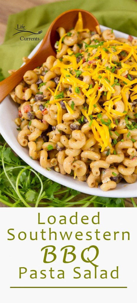 Loaded Southwestern BBQ Pasta Salad recipe
