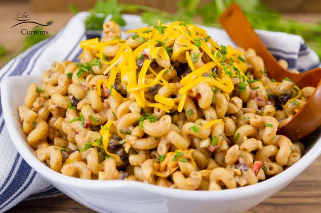 Loaded Southwestern BBQ Pasta Salad