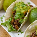 These Easy Lentil Tacos with Smashed Avocado are so good. The filling comes together in about 5 minutes, and is loaded with flavor. They're super healthy, loaded with good for you protein, fiber, and veggies! These vegan, gluten free tacos will be a family favorite for taco Tuesday, or any day!
