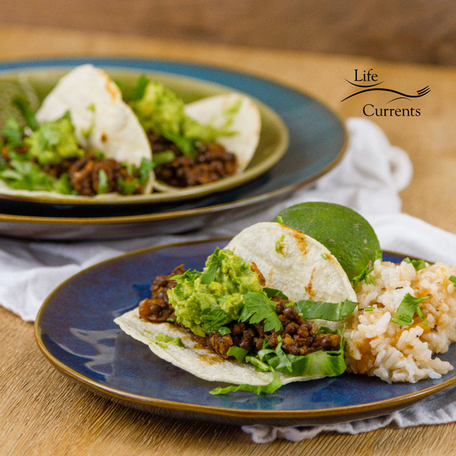 Easy Lentil Tacos with Smashed Avocado Recipe