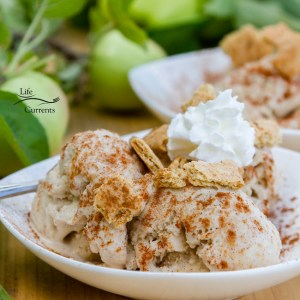 Apple Pie Ice Cream - have your apple pie and your a la mode all in one delicious frozen treat that's as classic and American as Apple Pie!