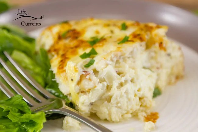 Crab and Shallot Frittata Frittata, crustless quiche, egg casserole, whatever you call it, it's delicious, and a great way to enjoy crab meat!