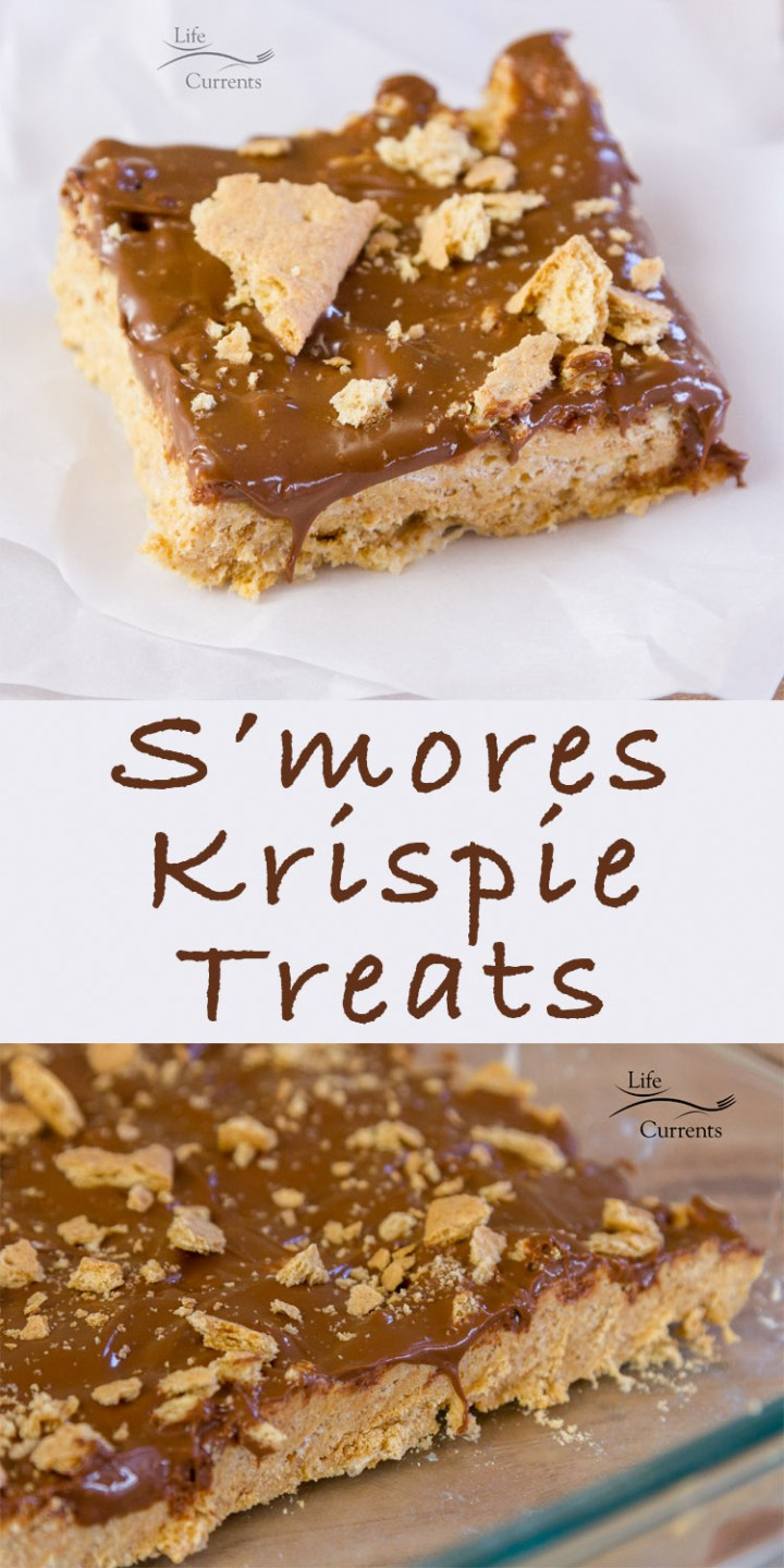 S'mores Krispie Treats - classic flavors of marshmallows, graham crackers, and milk chocolate all wrapped around eachother
