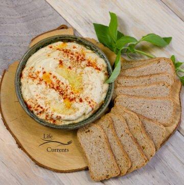Pineapple Serrano Hummus is a wonderfuly flavorful healthy snack