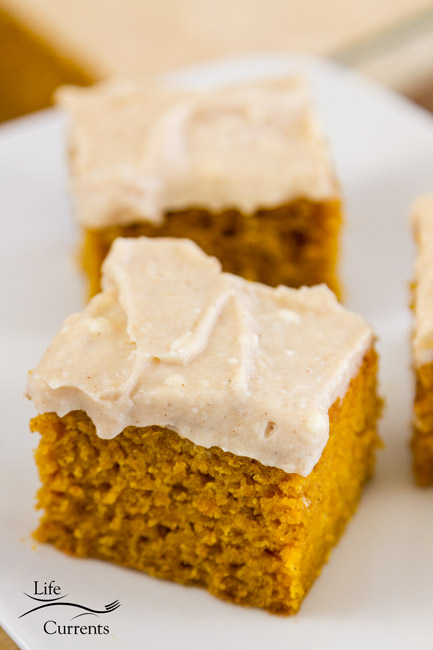Pumpkin Spice Cake with Apple Butter Cream Cheese Frosting Recipe - All the things that make fall, well, fall are here!