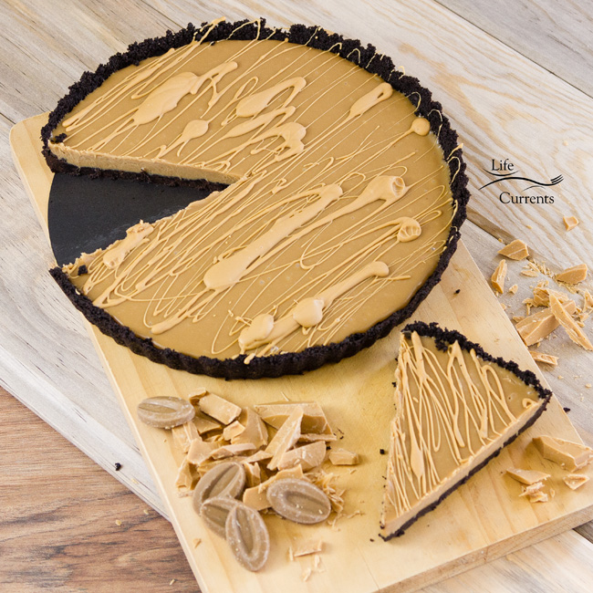 No-Bake Blonde Chocolate Ganache Tart - delicious rich dessert