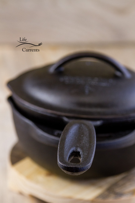 Mom's Vegetarian Pot Pie Soup: custom made Cast Iron Cooking Set UncommonGoods