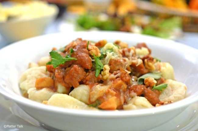 Recipes that use Apple Butter - Sage & Apple Butter Pasta Sauce with Gnocchi