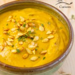 Roasted Butternut Squash Soup with Roasted Butternut Squash Seeds Recipe