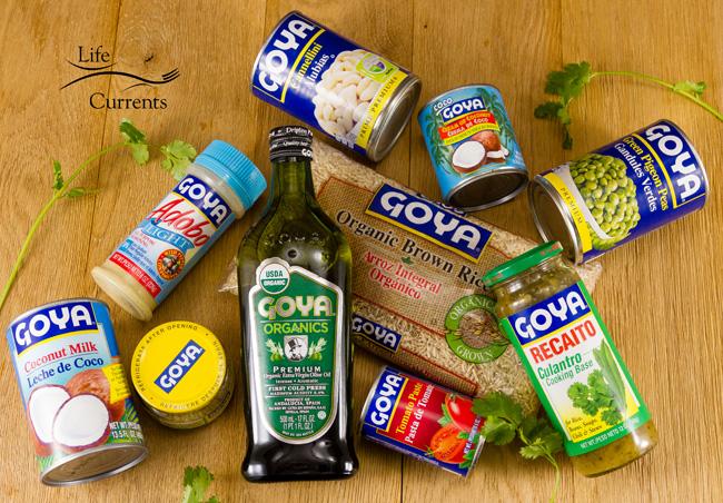 White Bean & Sweet Potato Taco Filling featuring a selection of Goya Foods for #MeatlessMonday #GoyaCanDo #GoyaGives