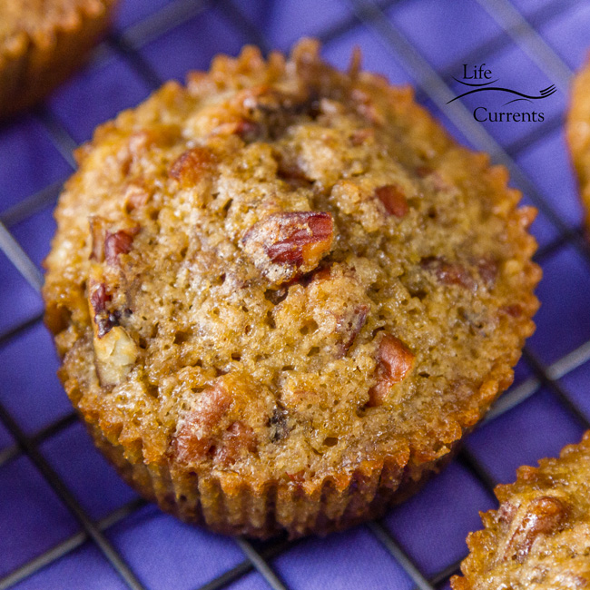 Pecan Pie Muffins - with just 5 ingredients, these delicious muffins are easy to make too!