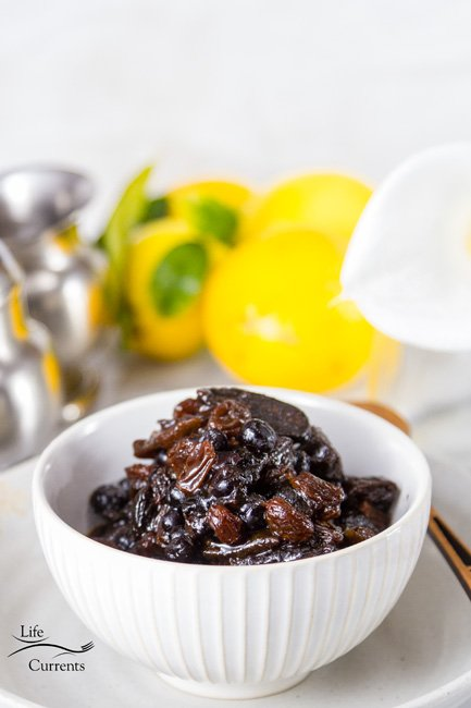 Orange Blueberry Dried Fruit Compote Recipe is easy to make even on busy mornings