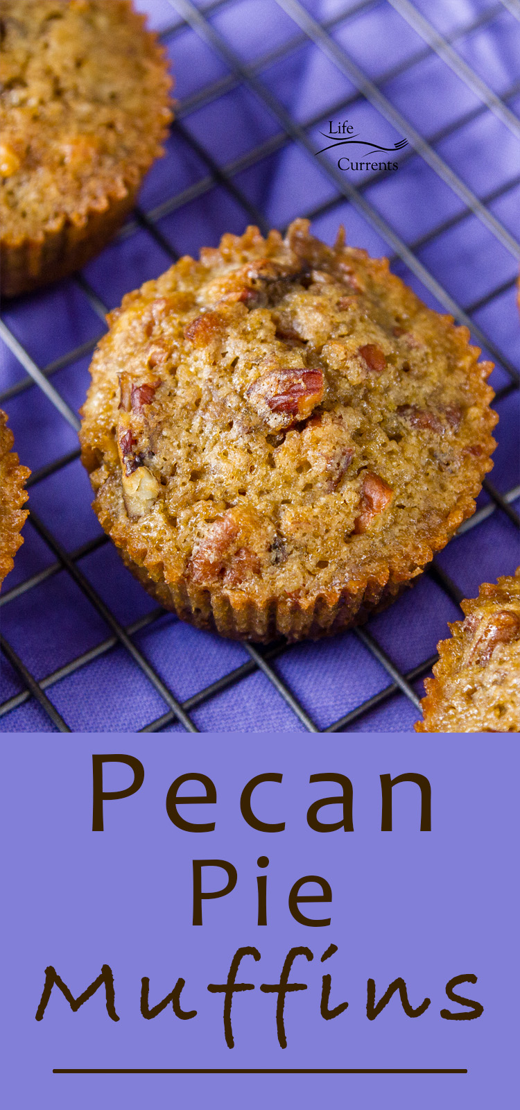 With just 5 ingredients, these Pecan Pie Muffins are super easy to make and really delicious to eat!