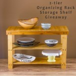 2-tier Organizing Rack Storage Shelf Giveaway