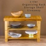2-tier Organizing Rack Storage Shelf Giveaway
