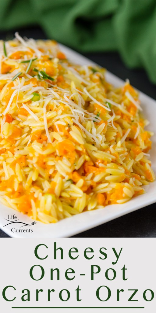 Cheesy One Pot Carrot Orzo Side Dish Recipe Thanksgiving sides dishes make ahead recipes favorite healthy easy vegetable unique for kids light vegetarian meatless simple vegan one pot quick cheesy orzo carrot orzo recipe side dish carrots caramelized risotto