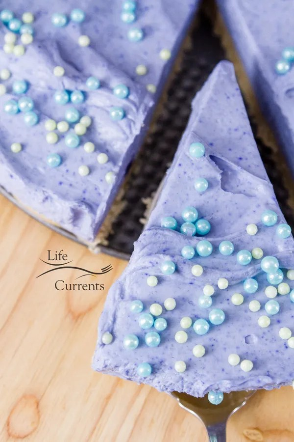 No Bake Mermaid Cheesecake - perfect for a birthday party!