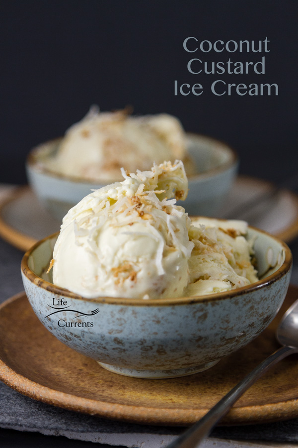 This homemade Coconut Custard Ice Cream recipe is rich and creamy, filled with coconut flavor, and one you'll want to make over and over again.