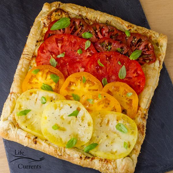Ombre Heirloom Tomato Ricotta Tart