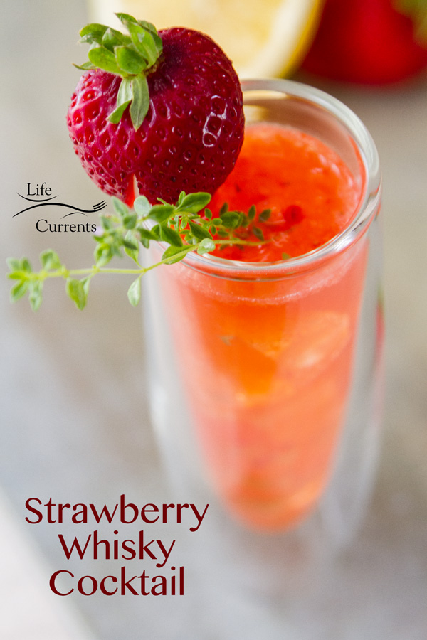 Strawberry Scotch Cocktail refreshing complex and delicious summer sipping drink