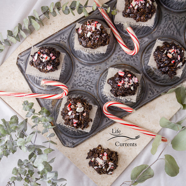 No Bake Peppermint Mocha Candy Cookies