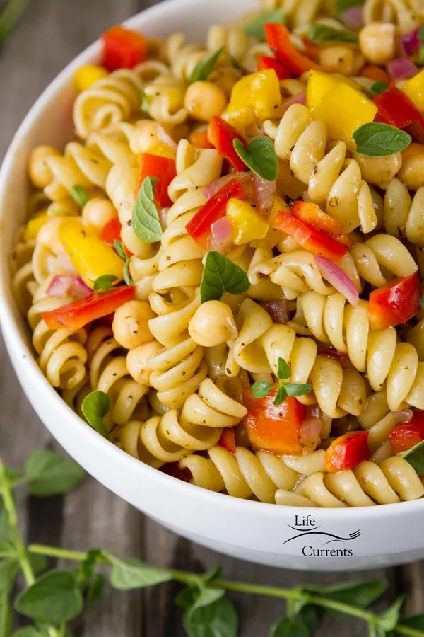 This Balsamic Dressing Pasta Salad is a classic easy to make vegan pasta salad.