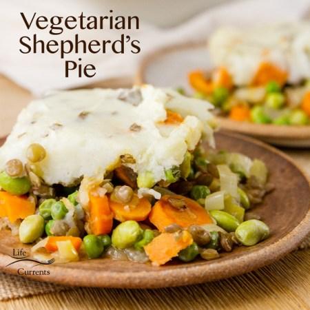 Vegetarian Shepherd's Pie is a great healthy veggie loaded comfort food dish.