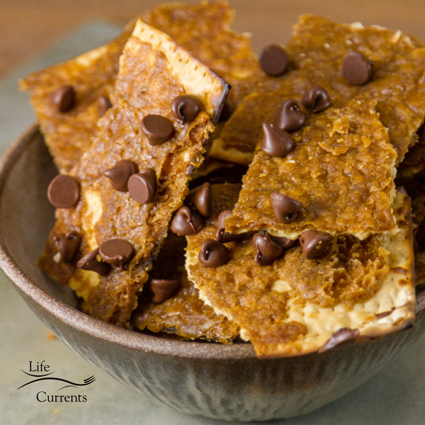 Matzo Toffee Candy Bark If you've never tried toffee bark before, I will warn you that this stuff is very addictive!