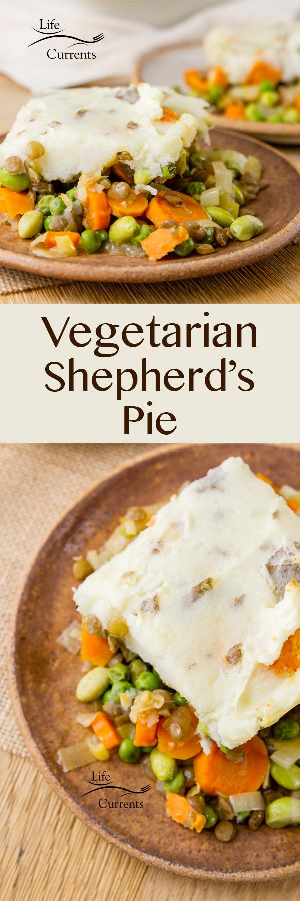 Vegetarian Shepherd's Pie is a great healthy veggie loaded comfort food dish