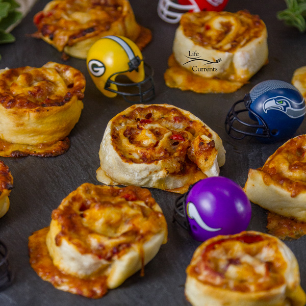 Pizza Pinwheels Grab and go pizza!