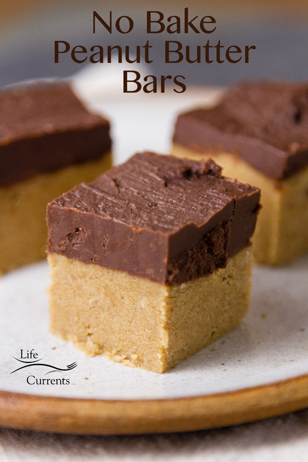 These No Bake Peanut Butter Bars are naturally gluten-free, making them great to take to gatherings like tailgate parties.