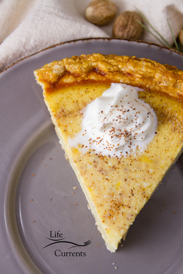 Most Popular Recipes of 2018: the year in review featured recipe for Eggnog Custard Pie