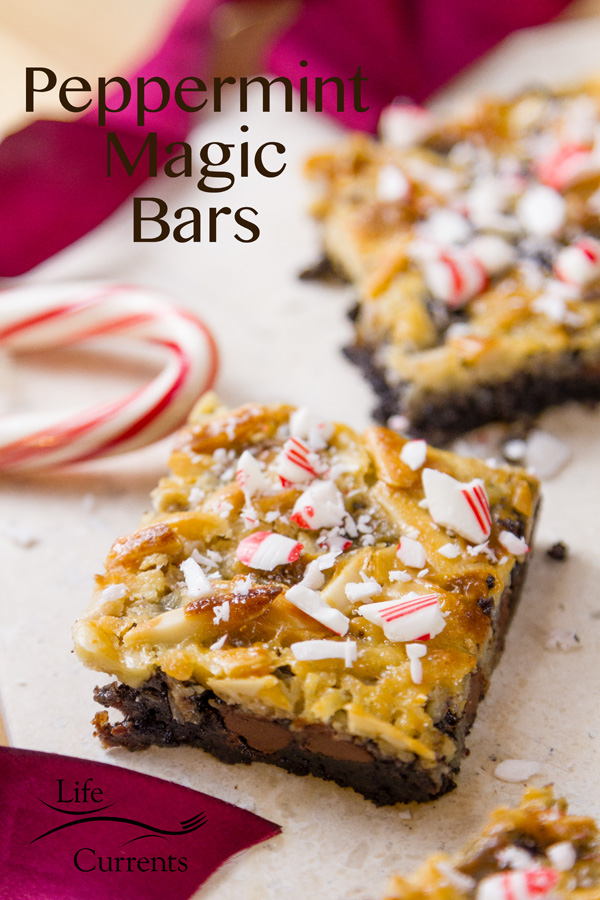 Peppermint Magic Bars These festive cookie bars are truly delicious and super easy to make.