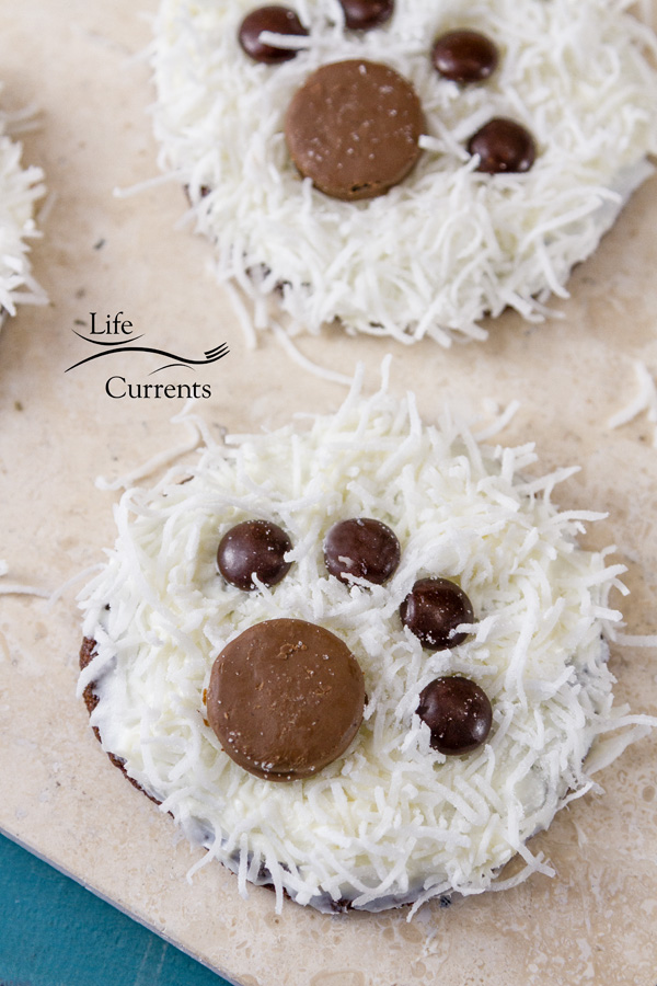 Polar Bear Paw Cookies Have a cookie decorating party and make these.