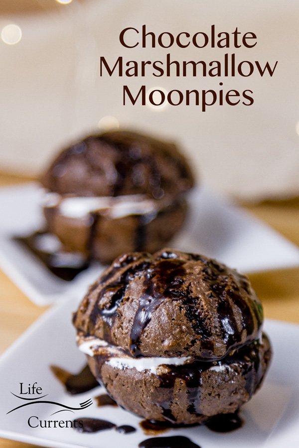 Chocolate Marshmallow Moonpies - Soft rich chocolate cookies surround sweet marshmallow fluff, and then you can drizzle this amazing mocha glaze over the whole thing. Swoon!