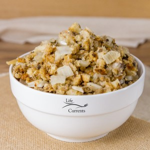 Vegetarian Crock Pot Stuffing is made entirely in the crock pot. It doesn't take up any room in the oven (where space is at a premium).