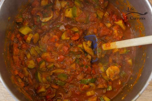 Vegetarian Vegetable Lasagna Recipe - the perfectly cooked veggies
