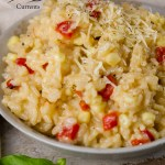 Corn and Red Pepper Risotto This recipe makes a nice big batch of risotto.