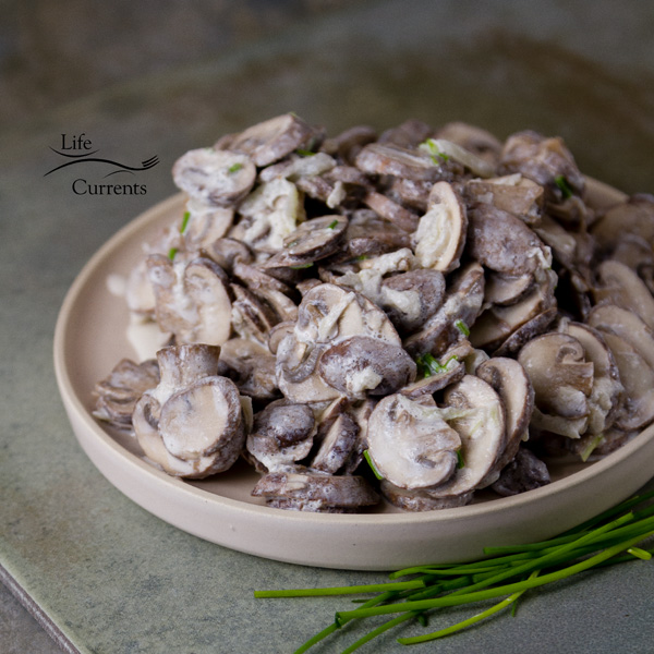 Garlic Mushrooms in Sour Cream - Serve mushrooms on toast, or over pasta. Serve them over rice. Top some protein like a steak, chicken, or seared tofu with these creamy mushrooms.