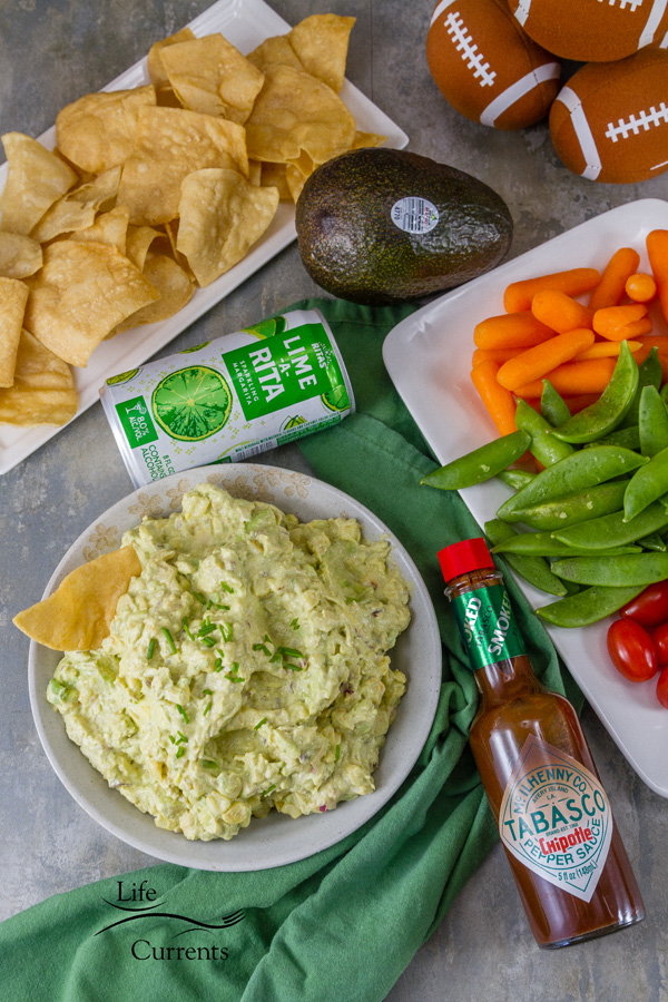 Chipotle Corn Guacamole -- I've added a little sweetness with the corn, and a bit of a smoky kick with the TABASCO® Chipotle Sauce for this game winning appetizer!