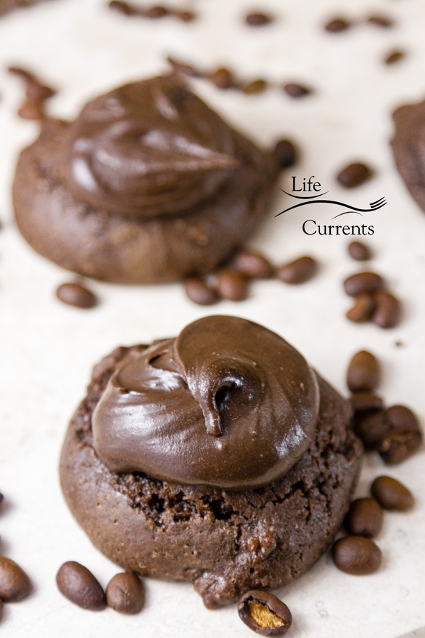 Brownie Cookies with Mocha Frosting Recipe Oh my gosh are they good!