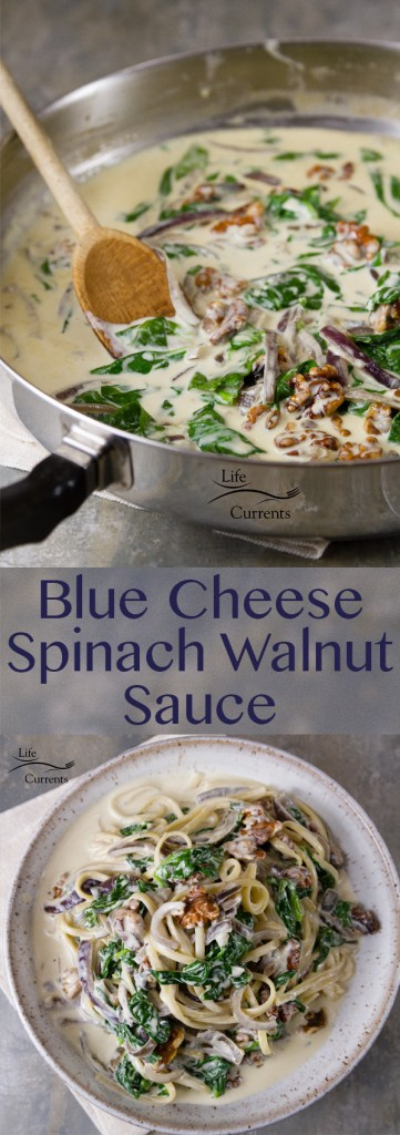 Blue Cheese Spinach Walnut Sauce Recipe
