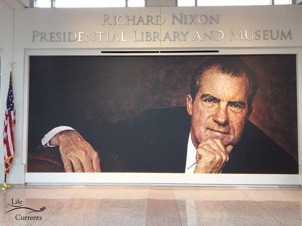 Visit the Richard Nixon Library and Museum - Nixon greets you
