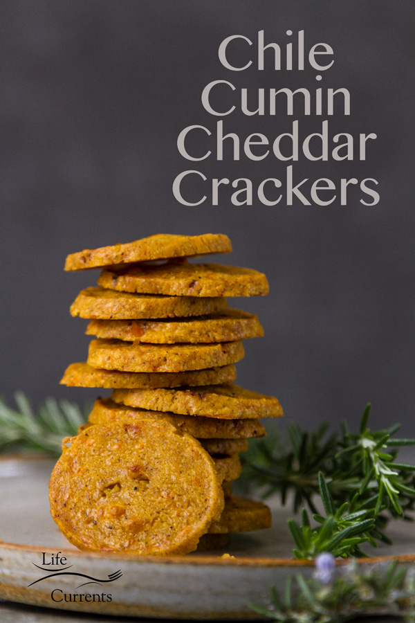 Chile Cumin Cheddar Crackers - Zesty and delicious little nibbles of cheesy goodness go great on a cheese platter, with soup or salad.