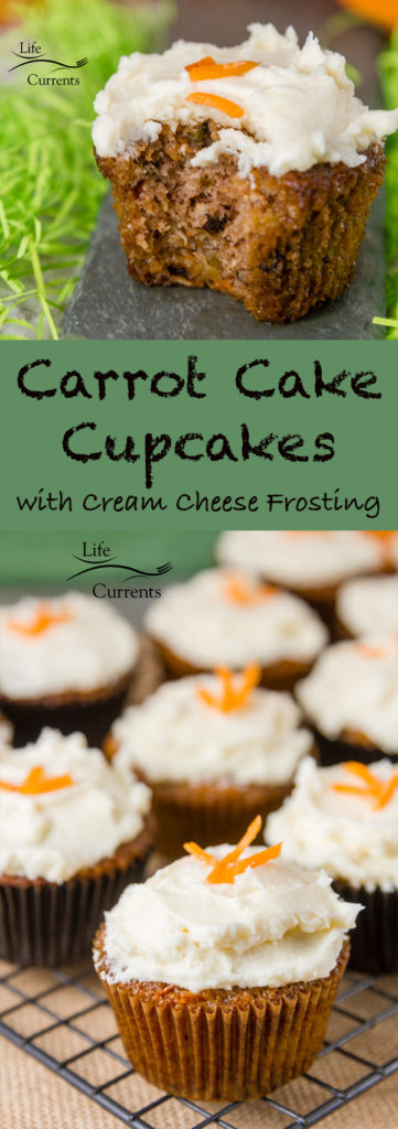 Carrot Cake Cupcakes with Cream Cheese Frosting Recipe a great spring time dessert treat
