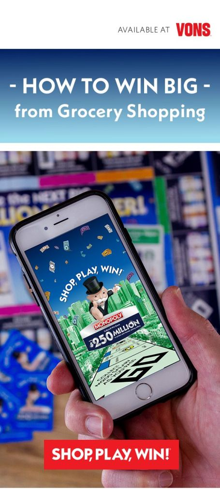 SHOP, PLAY, WIN!® Collect & Win Game featuring MONOPOLY